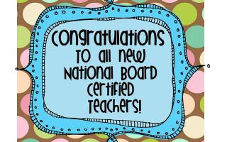 National Board Teaching Certification