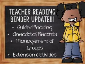 teacher reading binder