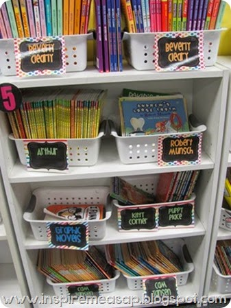 classroom library labels - reader's notebooks