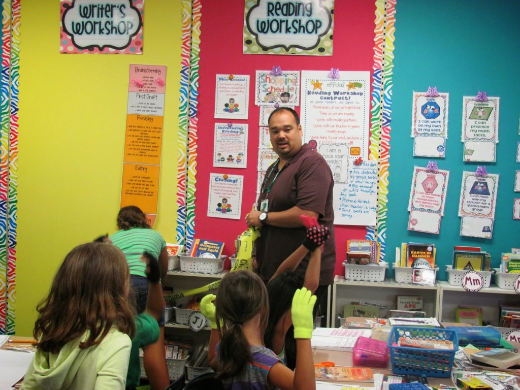 grand opening of classroom library