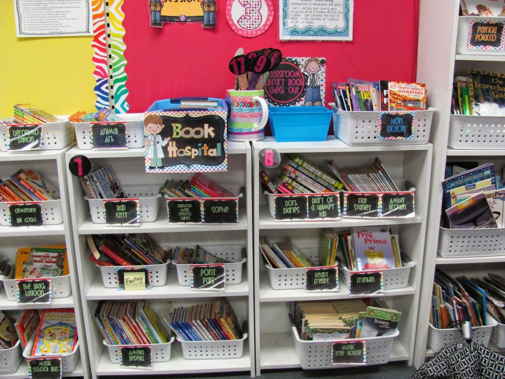 classroom library- book hospital