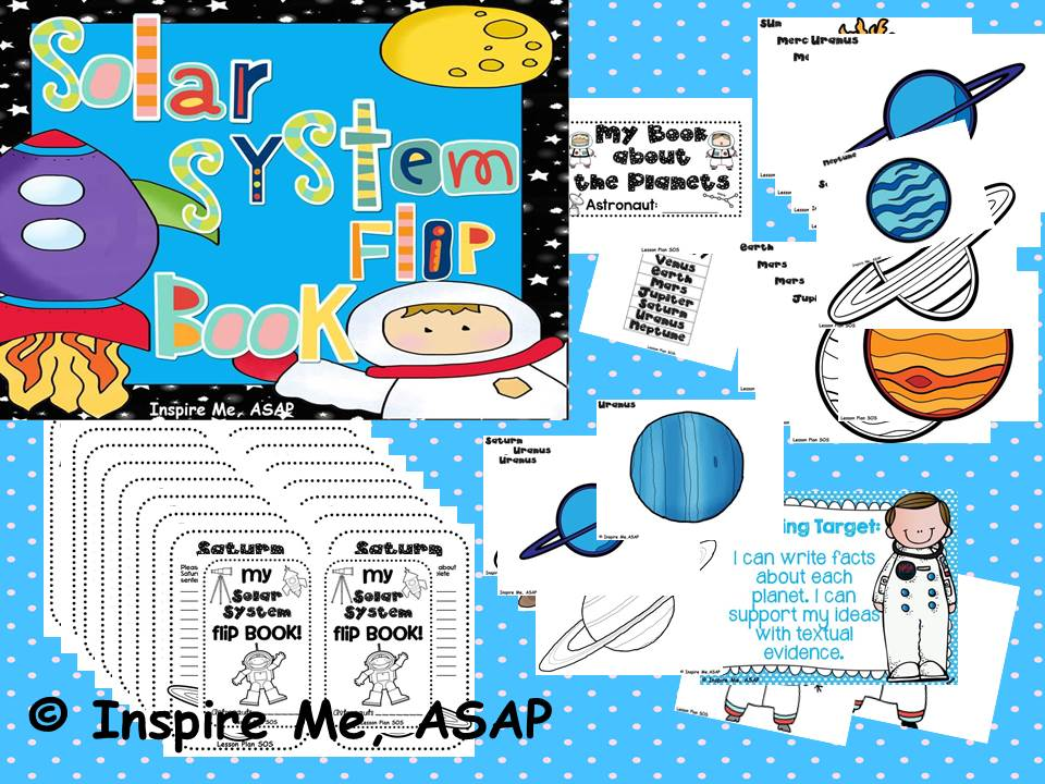 Solar System Flip Book: Student Created! - Inspire Me ASAP