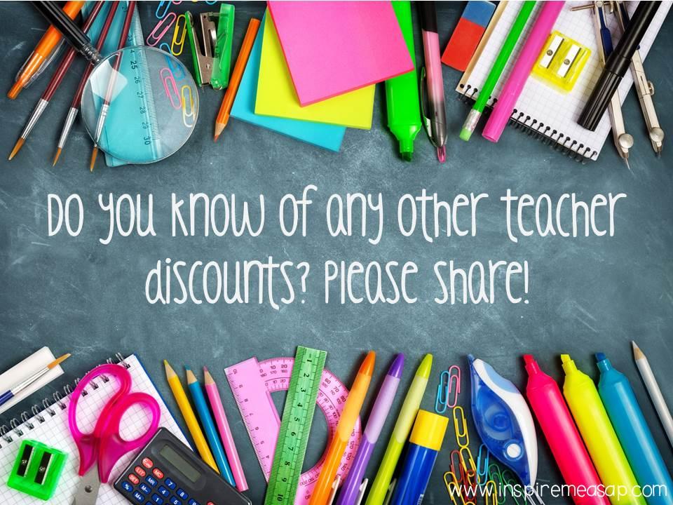 stores teacher discount